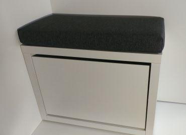 Обувница с мягкой сидушкой Элана-1.60 (белая)