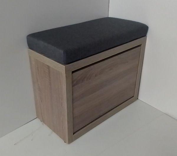 Обувница с мягкой сидушкой Элана-1.60 (дуб сомона/санома табак)